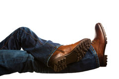 Relaxing pose of feet Stock Photography