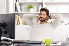Relaxing professional royalty free stock images