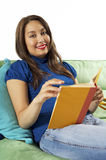 Relaxing and Reading Royalty Free Stock Photo