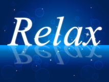 Relaxing Relax Indicates Rest Peace And Break Stock Photos