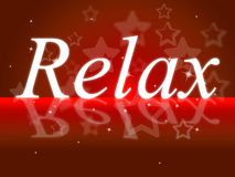 Relaxing Relax Means Rest Tranquil And Break Royalty Free Stock Photography