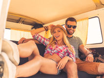 Relaxing during road trip. Stock Images