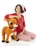 Relaxing on Rudolph Royalty Free Stock Image