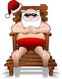 Relaxing_santa_2.jpg Imagem de Stock Royalty Free