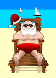 Relaxing_santa_beach.jpg Stock Afbeeldingen