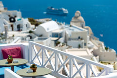 Relaxing in Santorini Stock Images