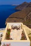 Relaxing in Santorini Royalty Free Stock Photos