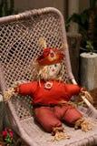 Relaxing Scarecrow Stock Photo