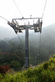 Relaxing and scenic ride in cable car skyway Royalty Free Stock Photo