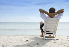 Relaxing in the sea Royalty Free Stock Photo