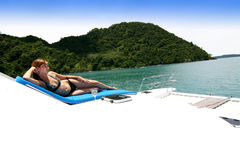Relaxing at sea. Royalty Free Stock Image