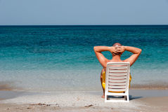Relaxing in the sea Stock Images