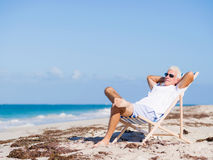 Relaxing at sea Royalty Free Stock Image