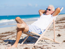Relaxing at sea Stock Image