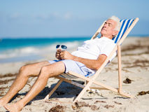 Relaxing at sea Stock Images