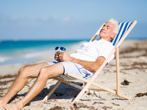 Relaxing at sea Stock Photography