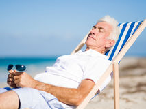 Relaxing at sea Royalty Free Stock Photography