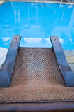 Relaxing seats near the swimming pool Royalty Free Stock Image