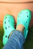 Relaxing shoes crocs croc Stock Images