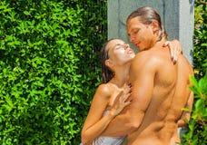 Relaxing shower Stock Photo