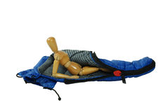 Relaxing in a Sleeping Bag Royalty Free Stock Photography