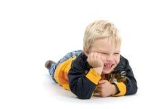 Relaxing Smiling Boy Stock Image
