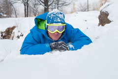 Relaxing snowboarder Stock Image