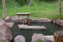 A relaxing soak in the gila wilderness Stock Photo