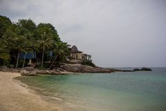 Thailand, Samui national park. Relaxing somewhere on the beach stock images