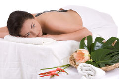 Relaxing at the spa Stock Photography