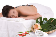 Relaxing at the spa center Stock Photography
