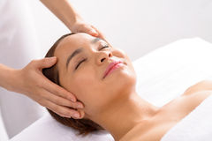 Relaxing spa massage Stock Images