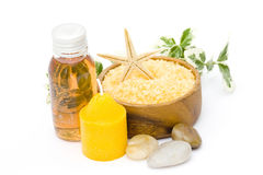 Relaxing spa products Stock Photo
