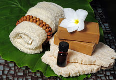Relaxing spa products Stock Photography