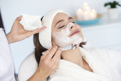 Relaxing at the spa salon royalty free stock photo