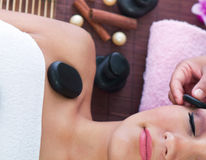 Relaxing in spa salon Royalty Free Stock Image