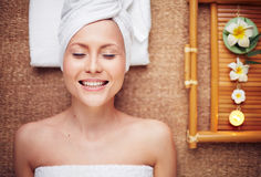 Relaxing at spa Royalty Free Stock Images