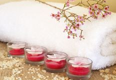 Relaxing spa scene Royalty Free Stock Photography
