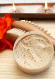 Relaxing Spa Scene With Body Products Stock Photo