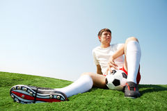 Relaxing sportsman Royalty Free Stock Photos