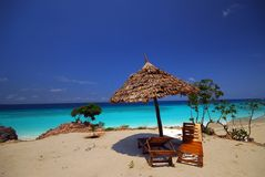 Relaxing spot on beach Stock Photo