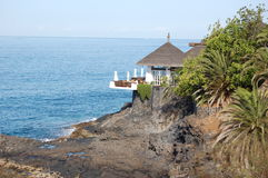 Relaxing spot at Tenerife. Relaxing spot at Playa De las Americas, Tenerife,Spain royalty free stock photo