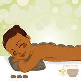 Relaxing Stone Massage Royalty Free Stock Images