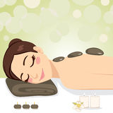 Relaxing Stone Massage royalty free illustration