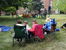 Relaxing at the Summer Jazz Concert Royalty Free Stock Photo