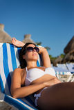 Relaxing summer tropical vacation at the beach Stock Photo