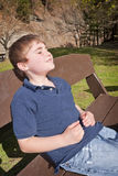 Relaxing in Sun Stock Photos
