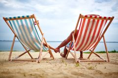 Relaxing sunbathers Royalty Free Stock Photography