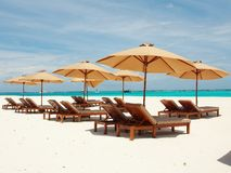Relaxing in Sunny Maldives Royalty Free Stock Image