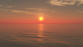 Relaxing Sunset Background. Minimalist but beautiful and detailed with long deep horizon and mystical moody atmosphere ideal for music album and book cover Royalty Free Stock Photography